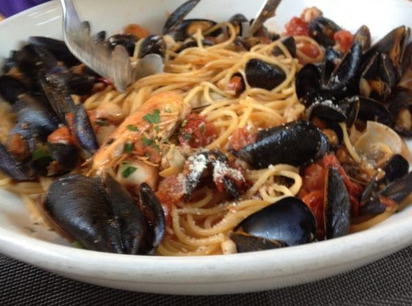 Seafood pasta in Nice