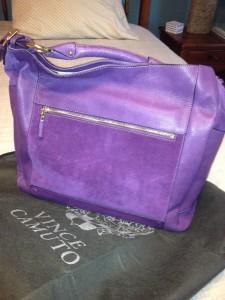 Vince Camuto handbag, fall fashions, purple handbags, life after 50, boomer fashions