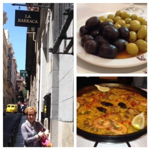 La Barraca paella, Madrid, life after 50, boomer travel, retirement,