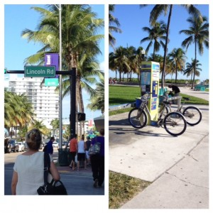 Lincoln Road South Beach Miami, Deco Bikes, life after 50, Miami, South Beach Miami