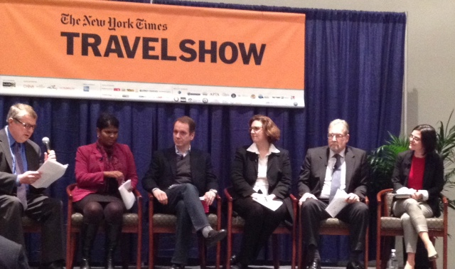 Peter Greenberg, Arabella Bowen, Wendy Perrin, David Pavelko, Yana Gutierrez, James Shillinglaw, NY Times Travel Show, boomer travel, boomers, life after 50