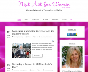 Next Act For Women, boomer women, reinvention, midlife, life after 50, over 50