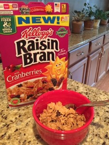 Kellogg's Raisin Bran with Cranberries Cereal; boomer wellness, nutritious breakfast, life after 50