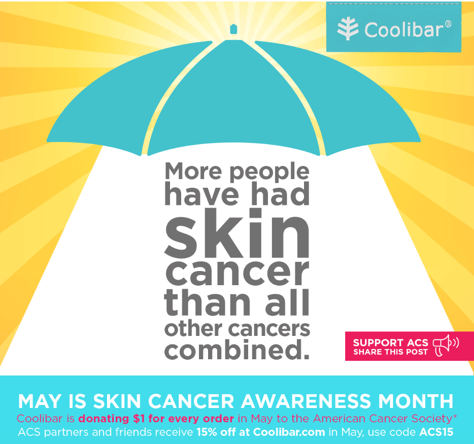 skin cancer, Coolibar sun protective clothing, Skin Cancer Awareness Month, life after 50