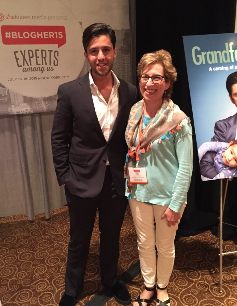Josh Peck, Grandfathered, FOX TV, #BlogHer15, lifeafter50, boomer tv