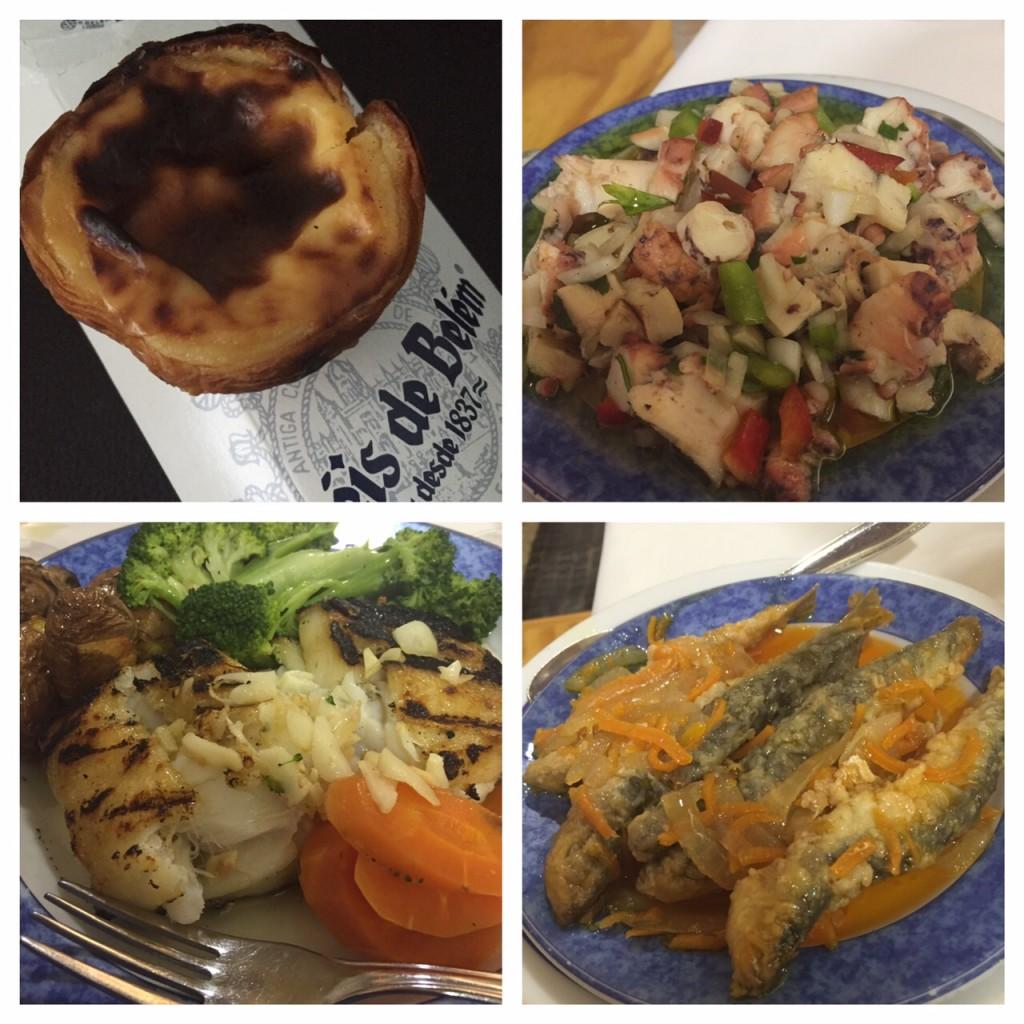 Portuguese foods, pasteis de nata, octopus, sardines, bacalhau, Portugal, Lisbon, Santa Marta, Viking RIver Cruise