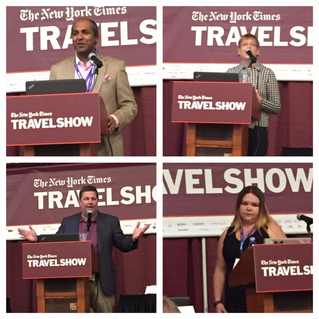 #nyttravelshow, New York Times 2016 Travel Show, Sree Sreenivasan, Lorraine Sileo, Erin Bender, David Callaway, boomer travel, travel