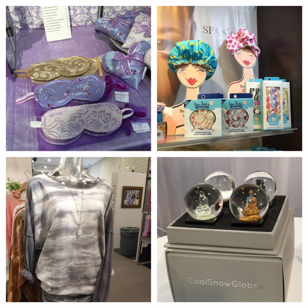 spa gifts; snow globes; rock cotton tees; spa sisters; gift giving