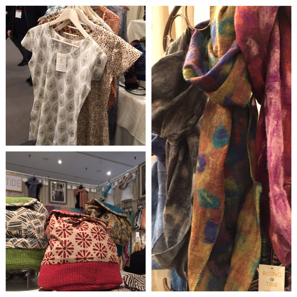 Rising Tide; NY NOW Show, scarves, artisan products