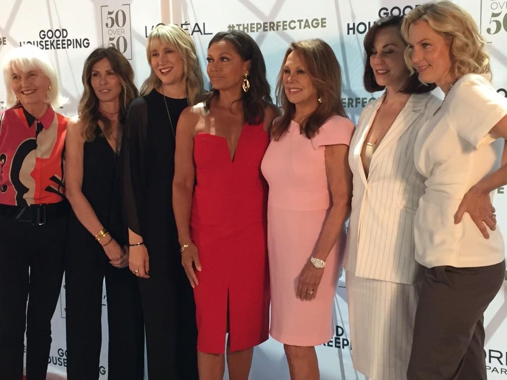 Carole Radziwill; Vanessa Williams; Marlo Thomas; Ali Wentworth; 50 Over 50; Good Housekeeping; Loreal; #theperfectage