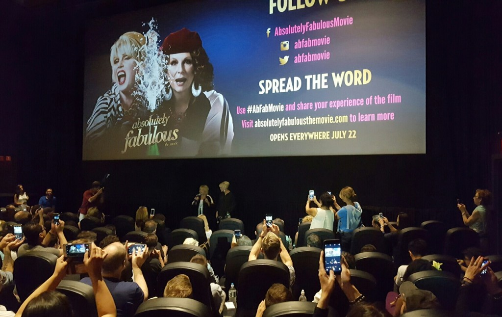 #AbFabMovie; Absolutely Fabulous - The Movie; Jennifer Saunders; Joanna Lumley; boomer movies