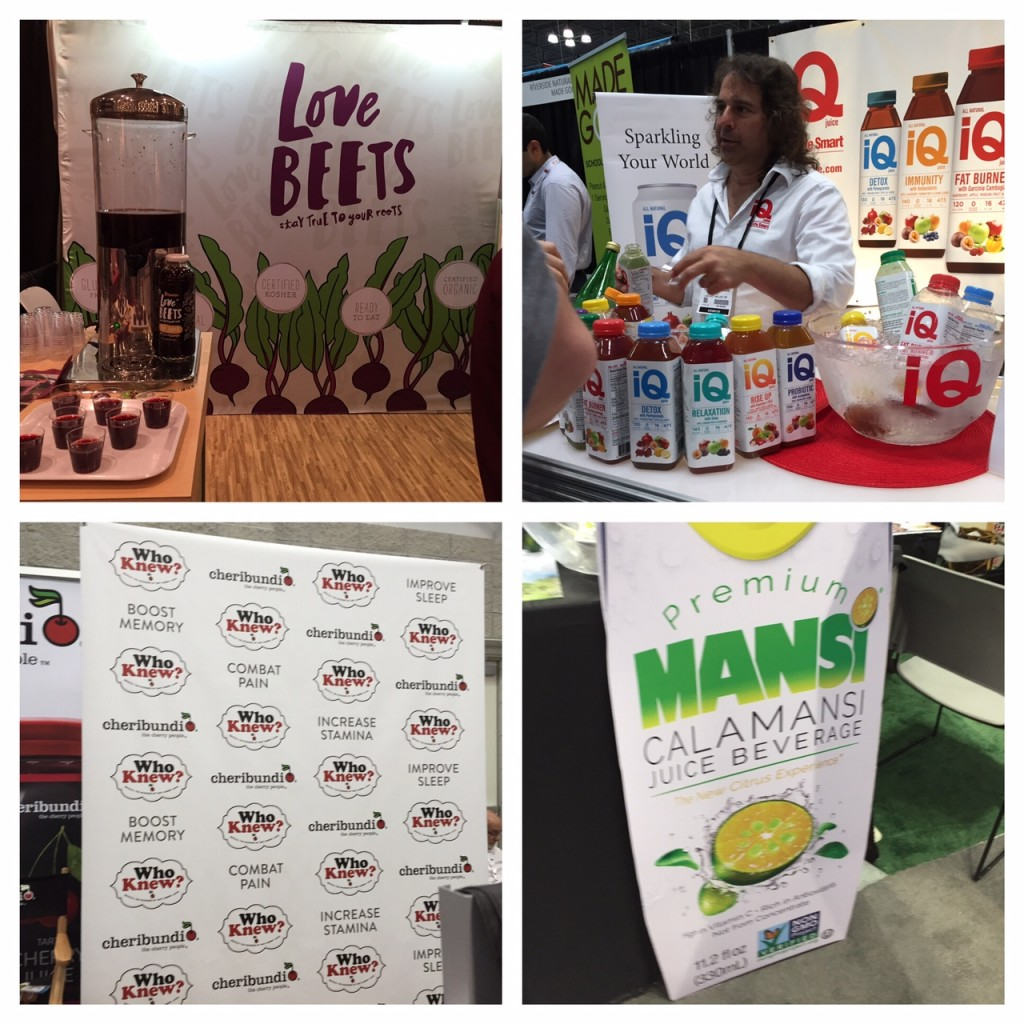 Cheribundi; beet juice; Mansi juice; IQ juice; boomer food trends; boomer wellness; 2016 Fancy Food Show