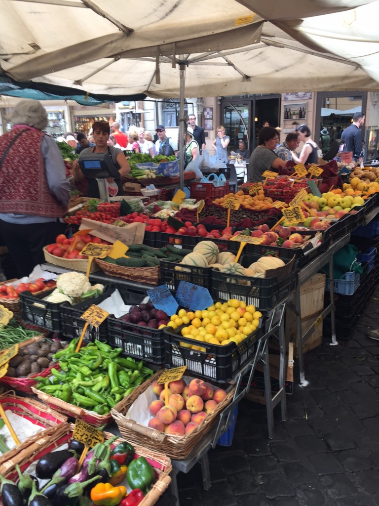 Italy; Rome; Campo dei Fiori, boomer travel