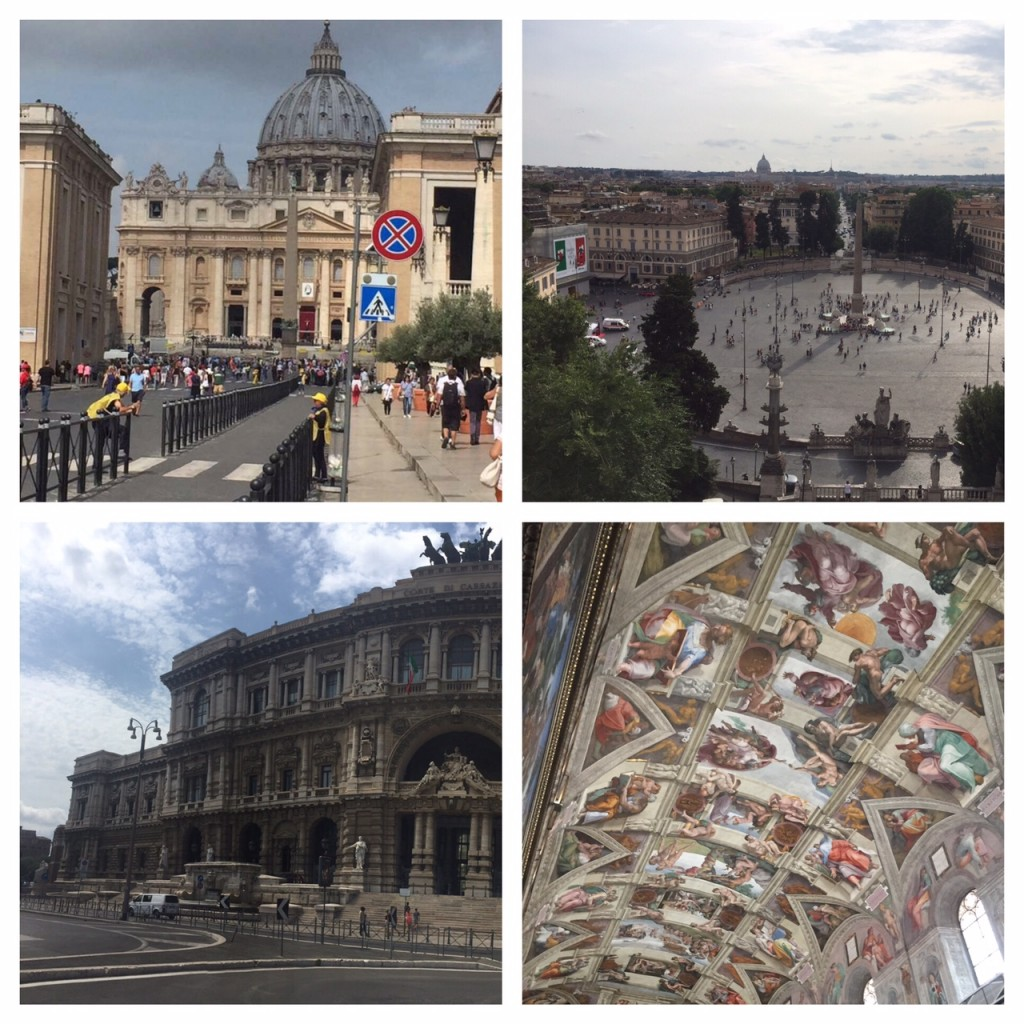 Italy; Rome; Vatican City; Sistine Chapel; St. Peter's Square and Basiclica