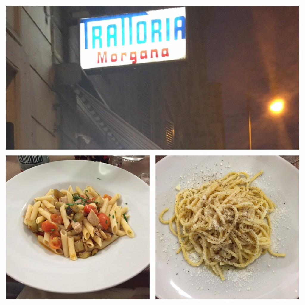 Rome; Italy; Italian food; Trattoria Morgana in Rome; travel; pasta with pepper