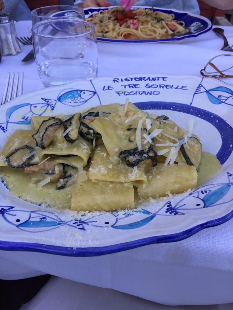 Pasta; Positano; Amalfi Coast; Italian food