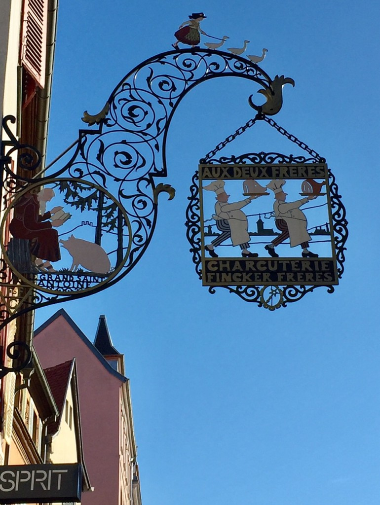 Hansi street sign in Colmar, France;