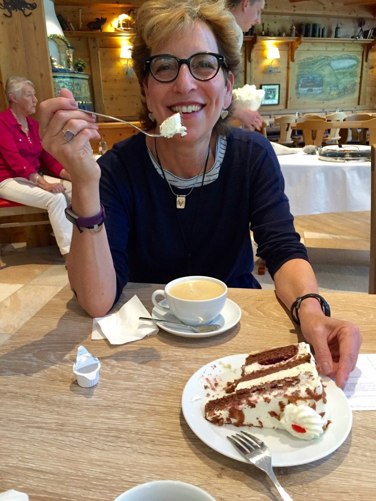 eating Black Forest Cake in Black Forest; Germany