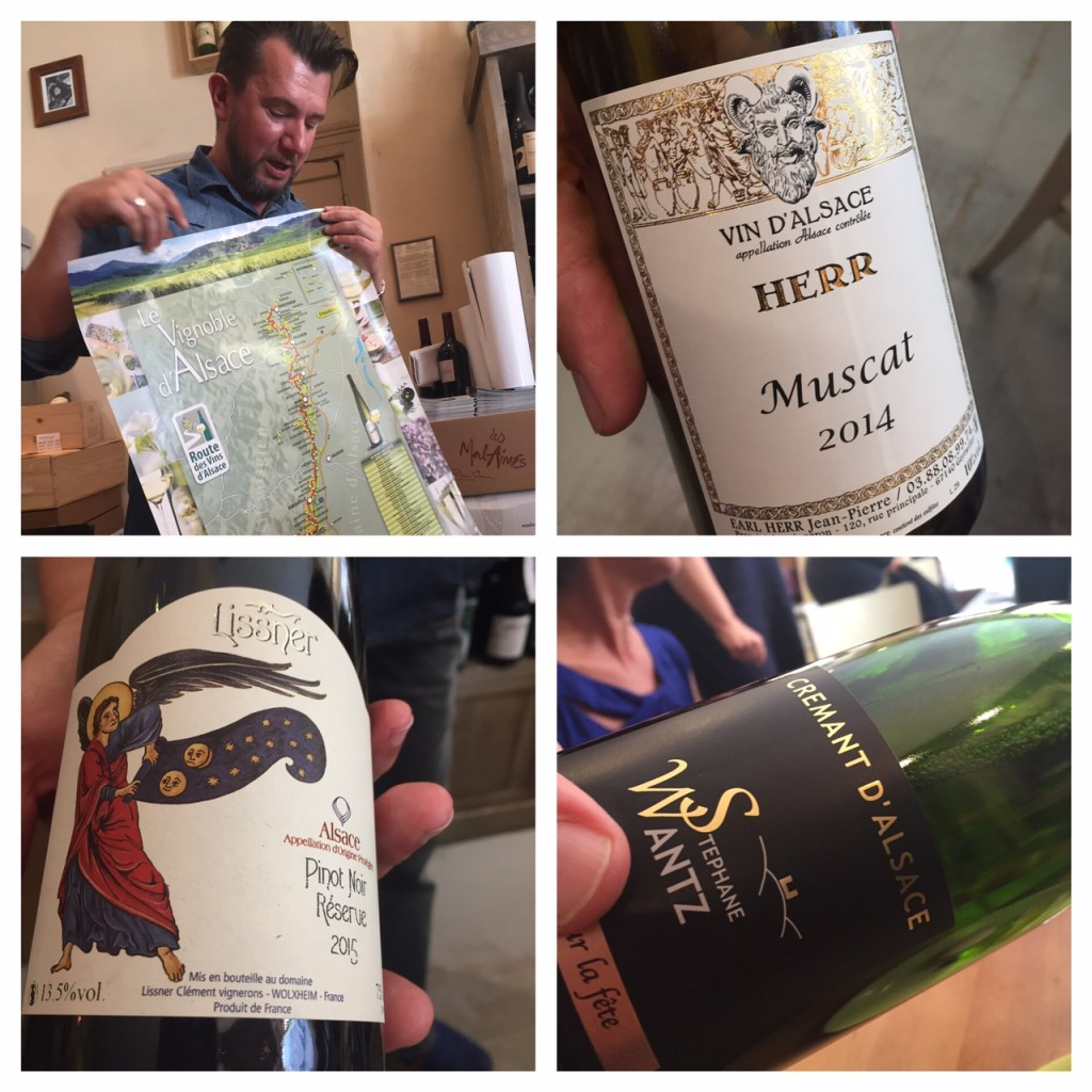 Sampling Alsace wines