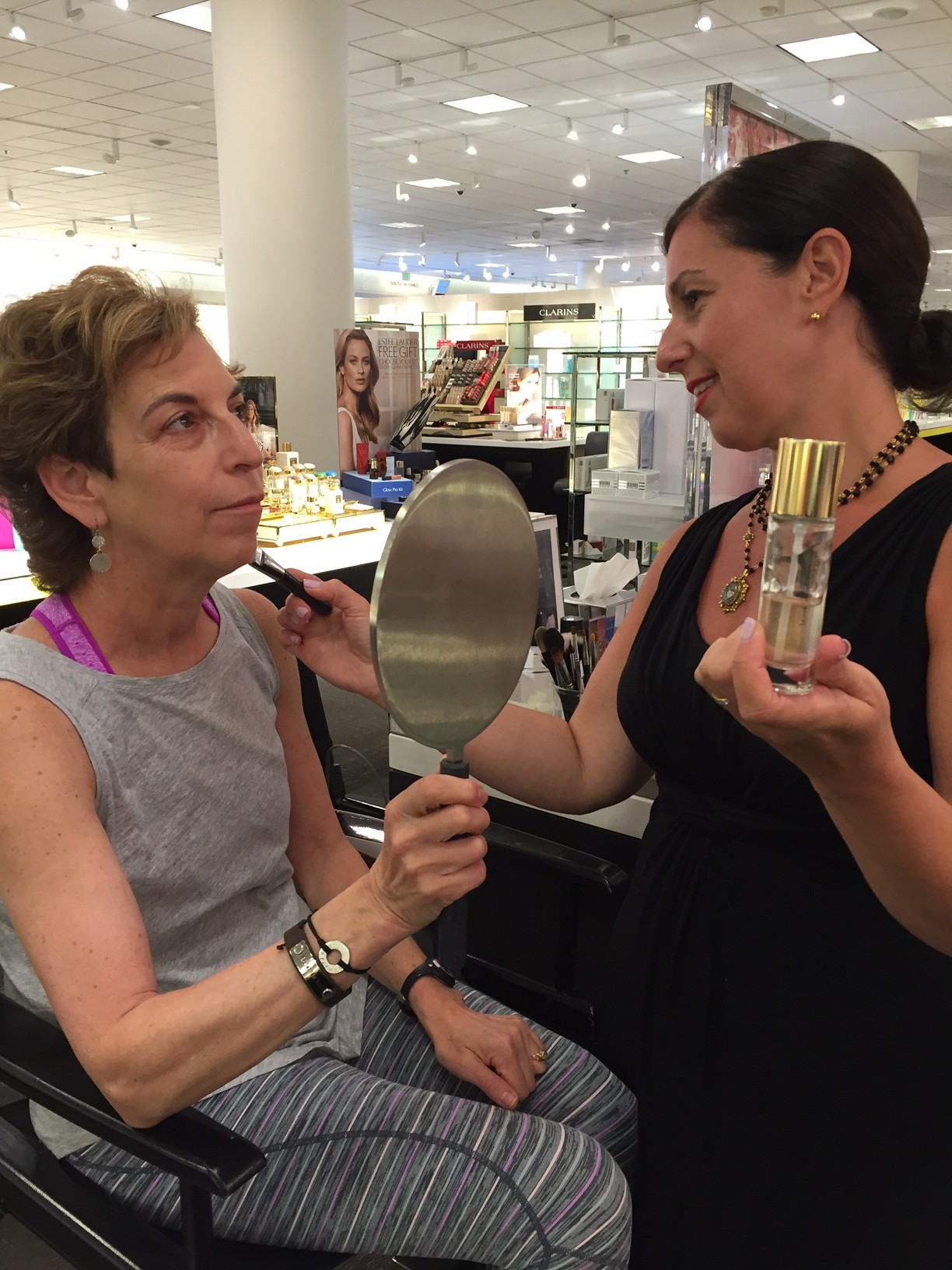 beauty makeover for post 50 women; beauty makeover; makeup for post 50 women; Nordstrom beauty stylist