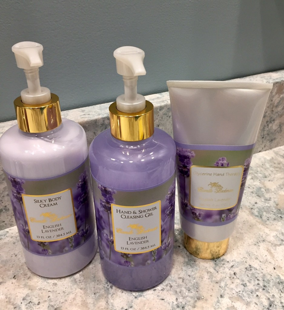 Camille Beckman; English Lavender Bath soaps and creams; holiday gifts