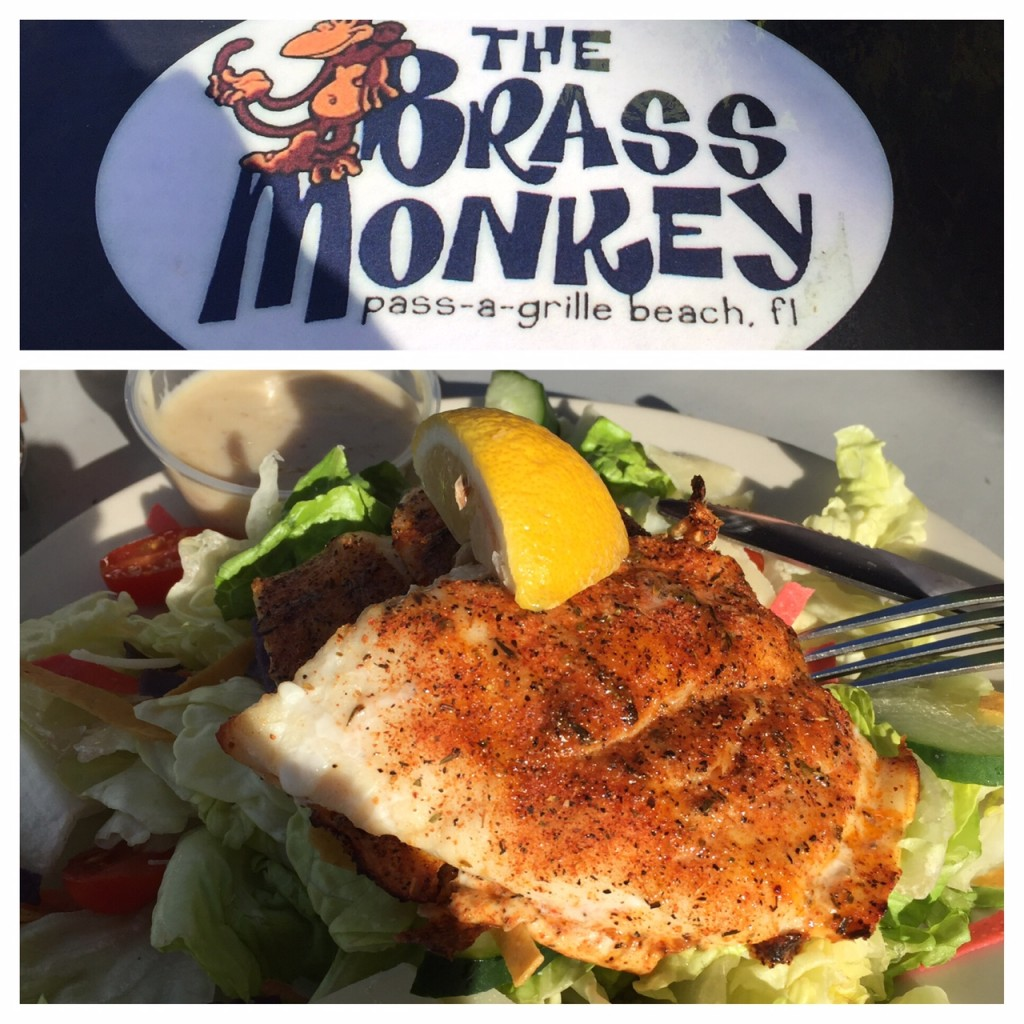 Grouper salad at The Brass Monkey.