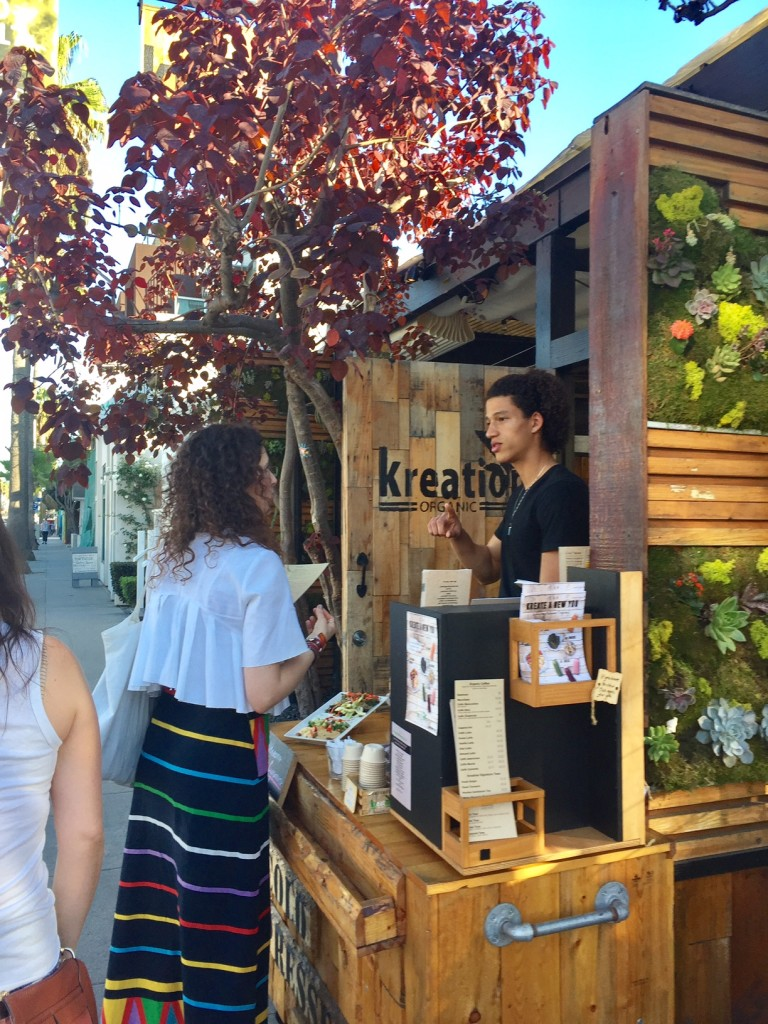California Kreation; Venice Beach, California; Abbot Kinney Blvd; organic juices