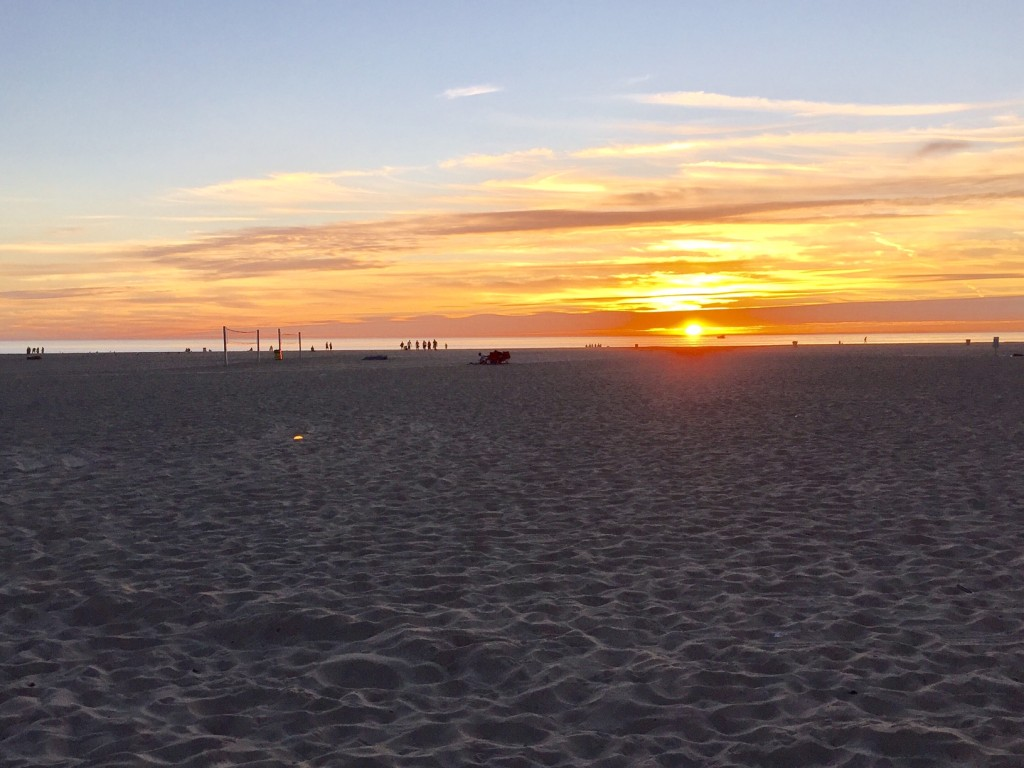 California Venice Beach Sunset