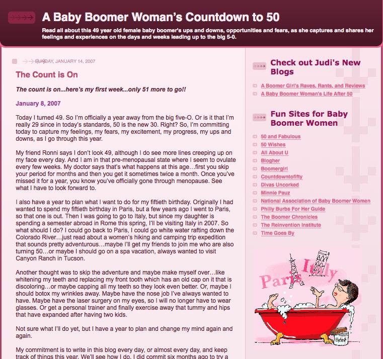 ayearto50.blogspot.com; boomer women; post 50