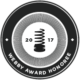 2017 Webby Award Honoree; 2017 Webby Awards