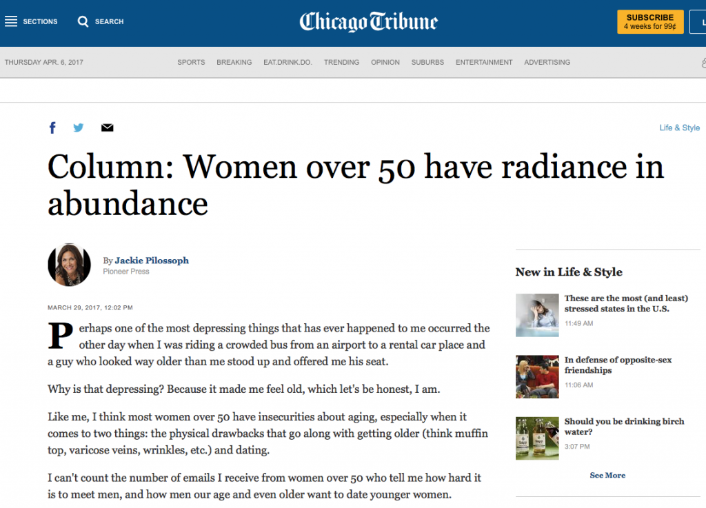 Chicago Tribune Pioneer Press; women over 50