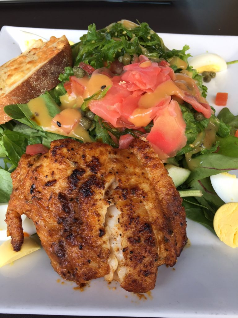 Clear Sky Cafe; Blackened Grouper; Clearwater Beach; boomer travel