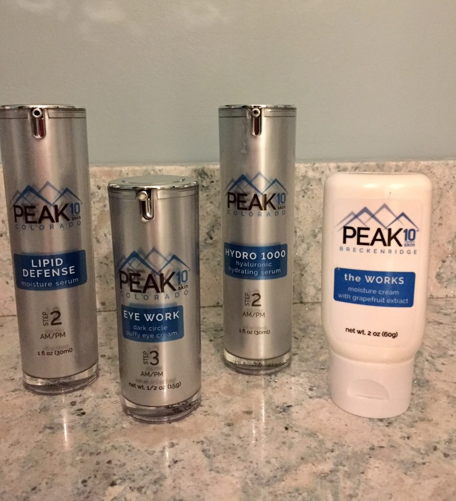 PEAK 10 SKIN products; boomer beauty; hyaluronic acid; skin care