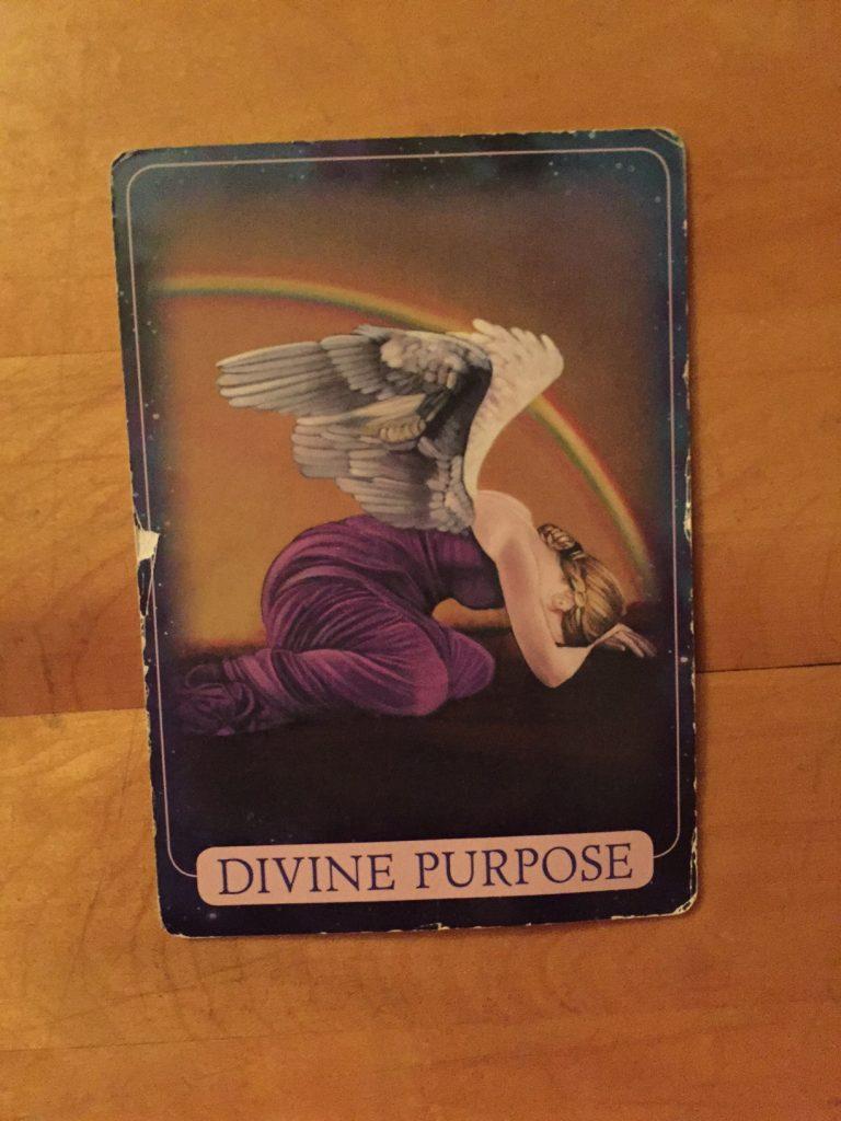 yoga; angel cards