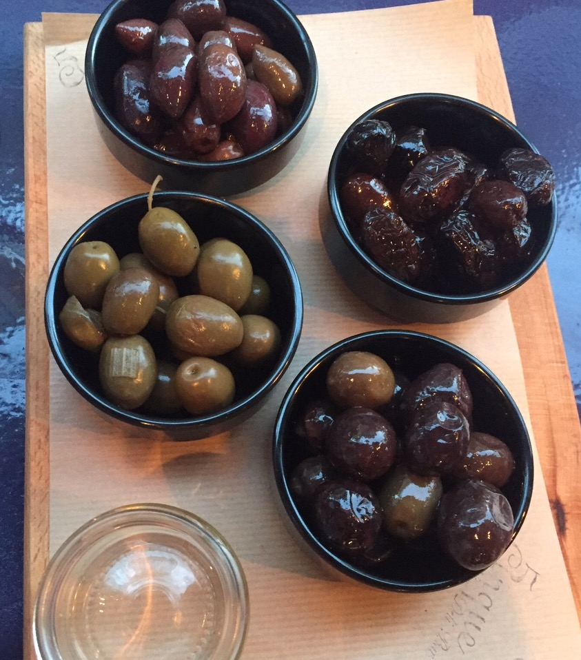 Greek olives; Greek food; Cinque Wine Bar; Athens; Greece