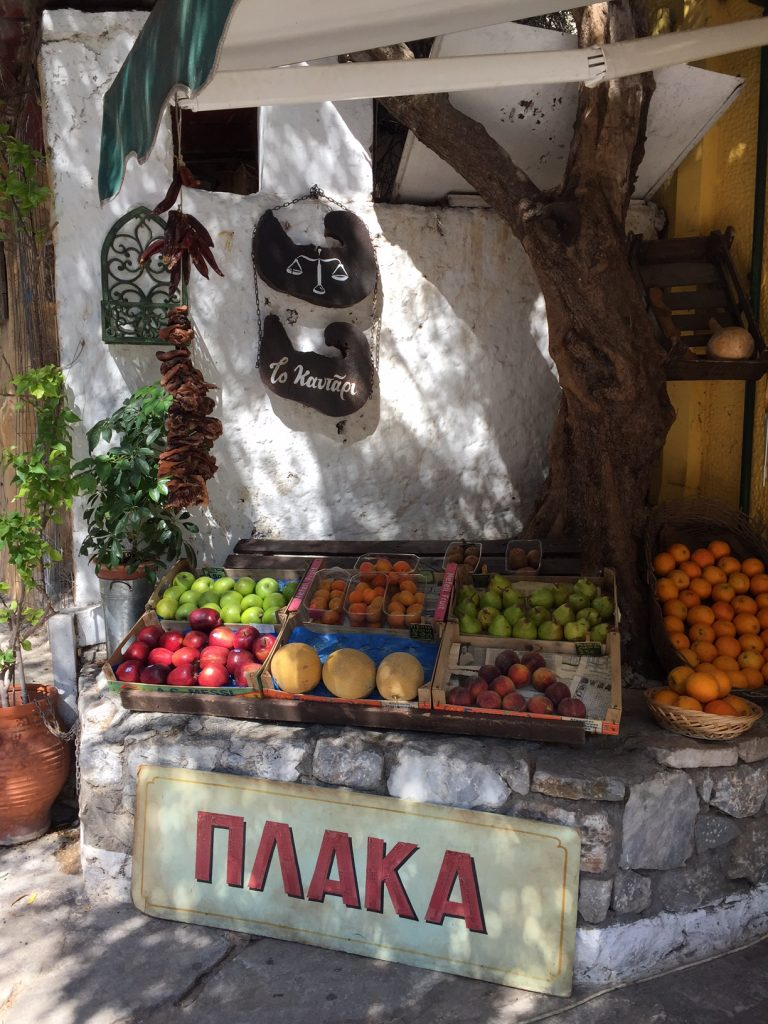 Plaka; Greek market; Athens; Greece