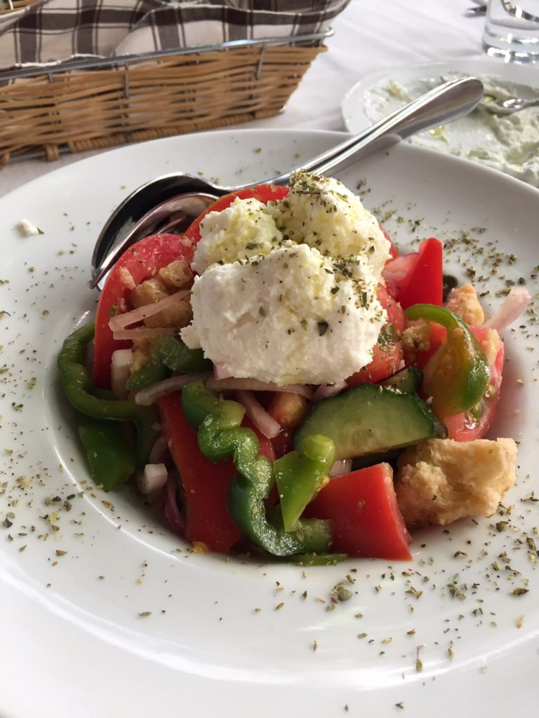 Athens; Greece; Greek food; Greek Salad; Hermion restaurant