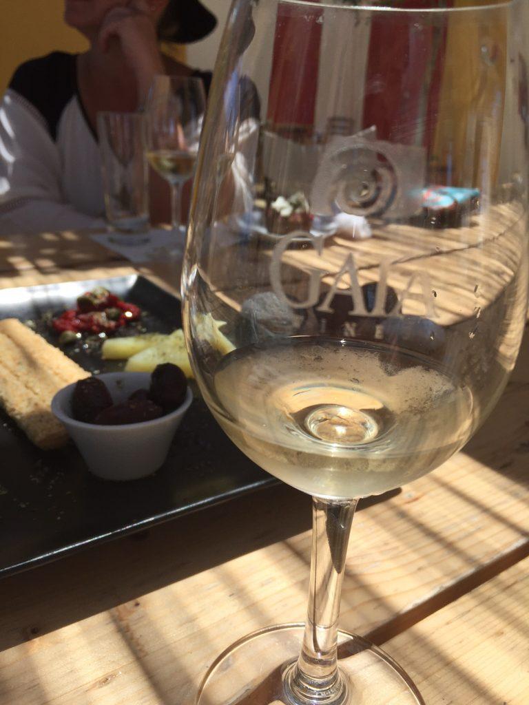 Gaia wines; Santorini Wine Trails Foodie Tour; Greece; Greek food; travel; boomer travel
