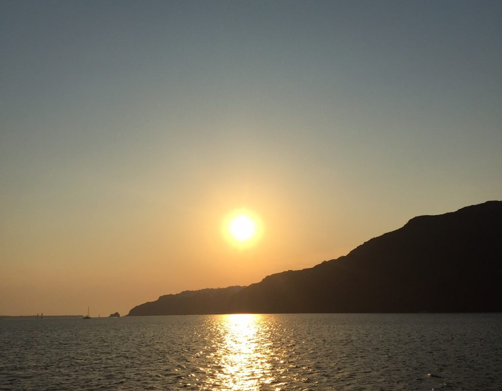 Santorini sunset; Santorini; Sunset Oia.