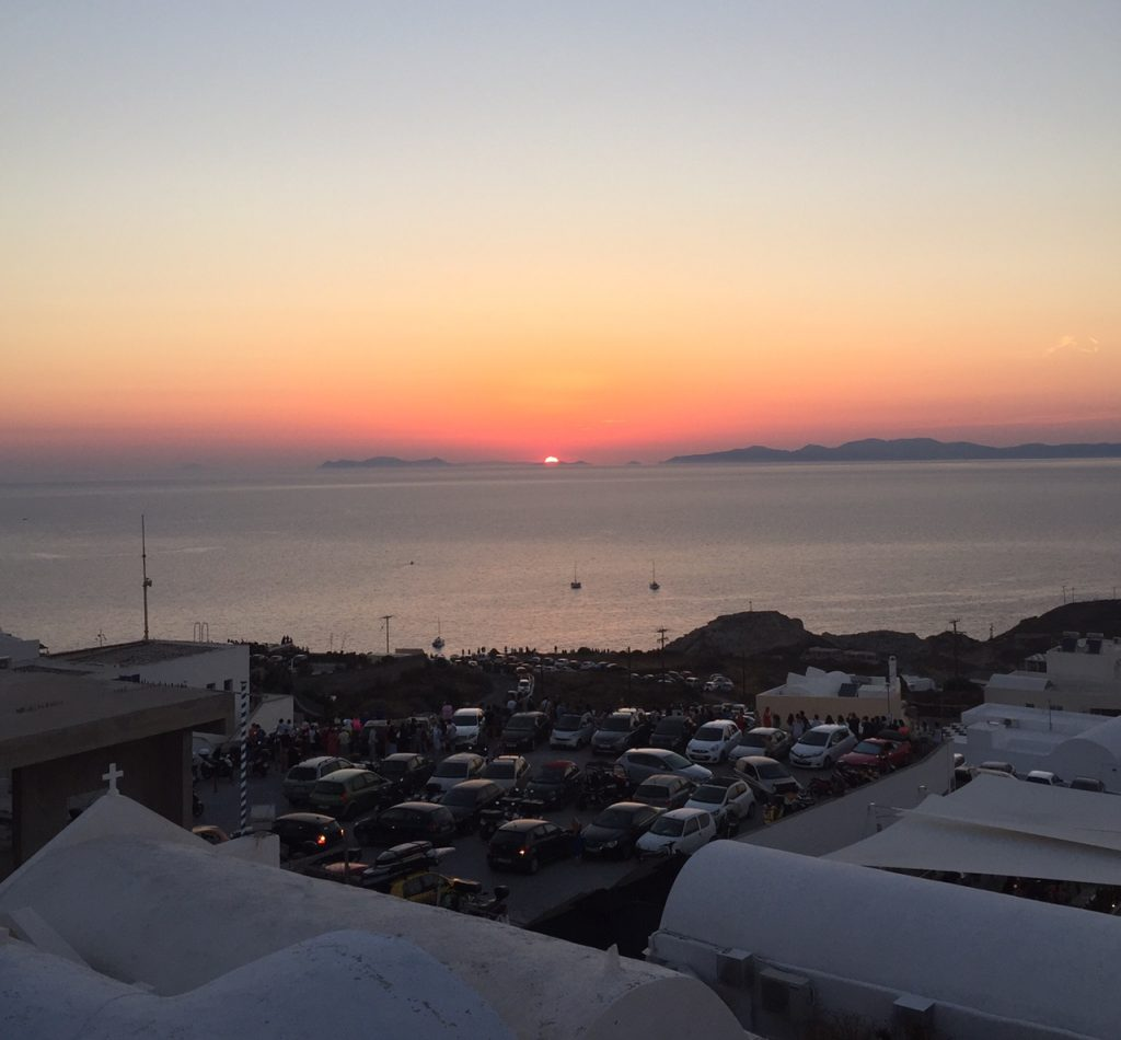 Santorini sunsets; Oia sunsets; Greece;