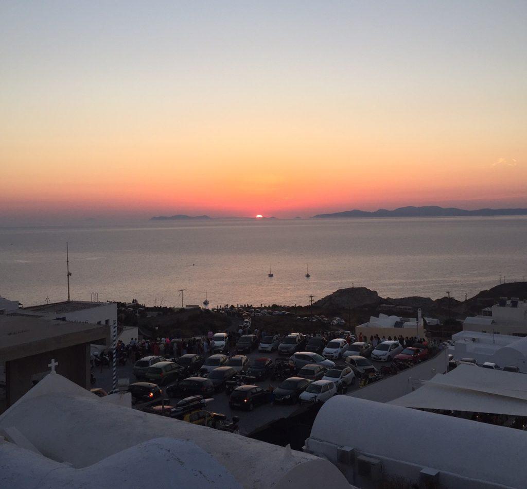 Santorini sunsets; Oia sunsets; Greece;