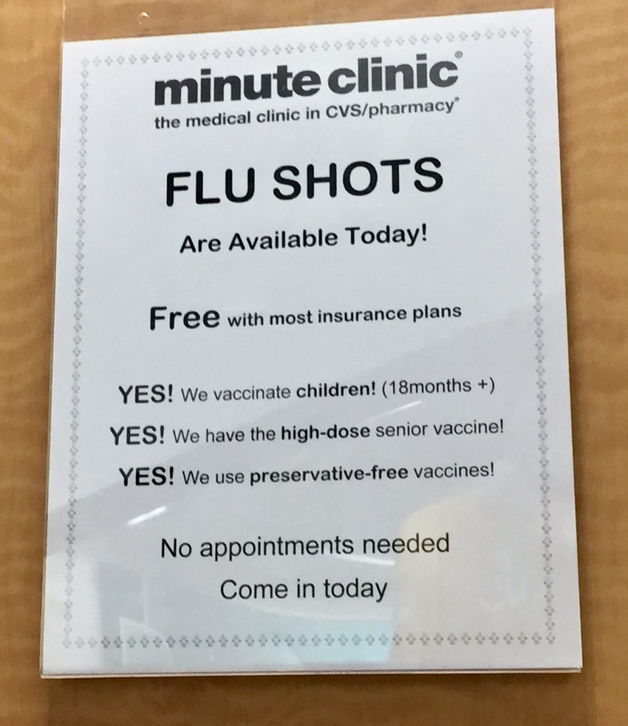 CVS Pharmacy; MinuteClinic; flu shot; influenza; flu prevention; #CVS