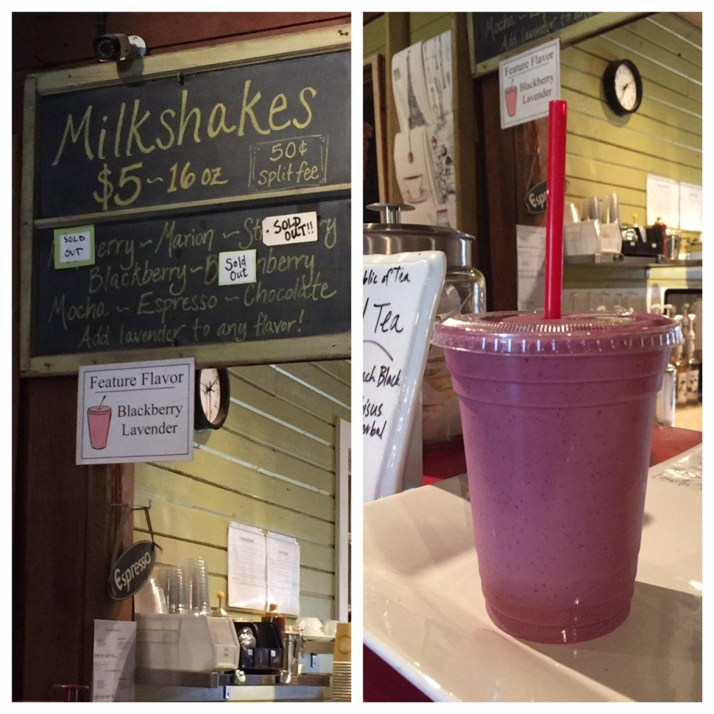 Smith Berry Barn; The Tualatin Valley; Lavender Berry Milkshake; milkshakes; best milkshakes; Oregon; WCVA; boomer travel