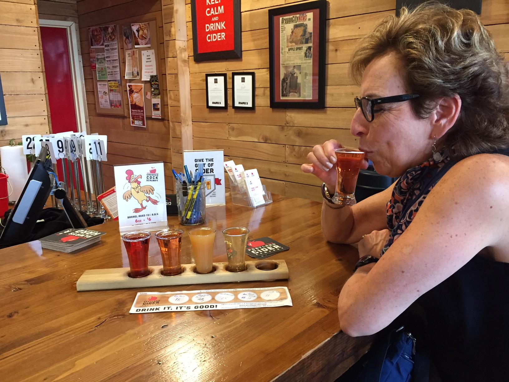 Portland Cider Tap Room; flights of cider;PSU Farmers Market; Portland Farmers Markets; Portland; pdx; Travel Portland; #YouCanInPortland; Oregon