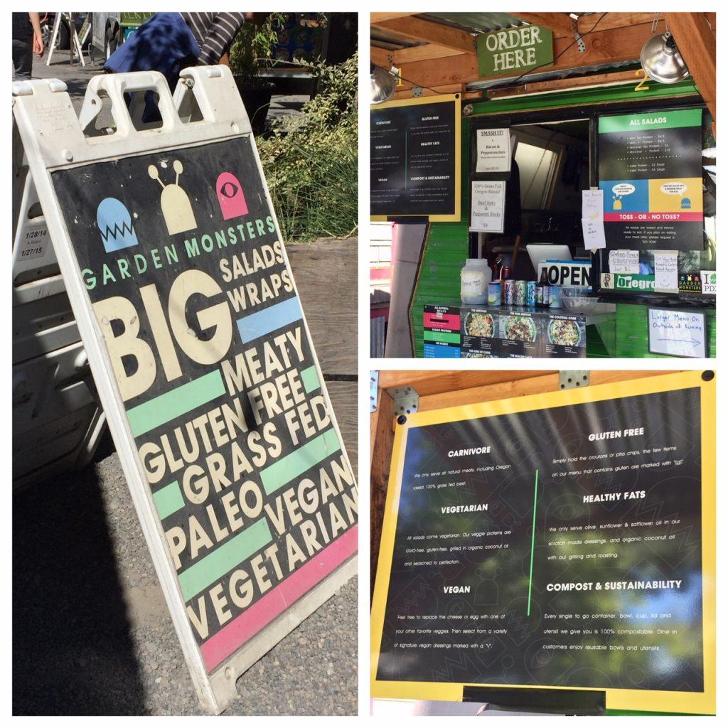 Garden Monsters food cart; food pods; food trucks; Portland street food; Portland foodie
