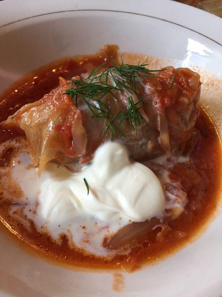 Kachka; Golubtski, stuffed cabbage; Russian food
