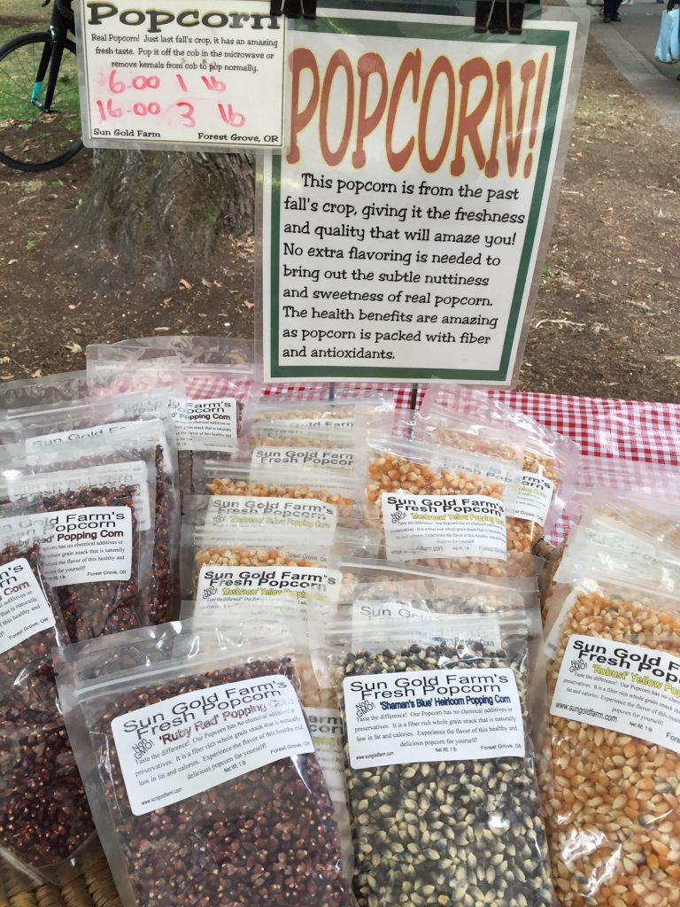 PSU Farmers Market; Portland Farmers Markets; Portland; pdx; Travel Portland; #YouCanInPortland; Sun Gold Farm's Popcorn; Oregon
