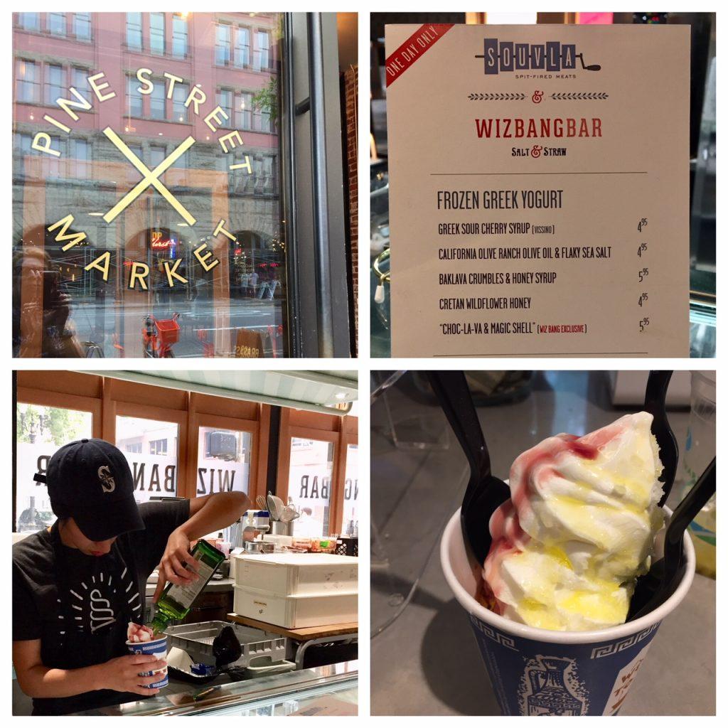 Salt & Straw Frozen Greek Yogurt; Wizbangbar;PSU Farmers Market; Portland Farmers Markets; Portland; pdx; Travel Portland; #YouCanInPortland; Pine Street Market