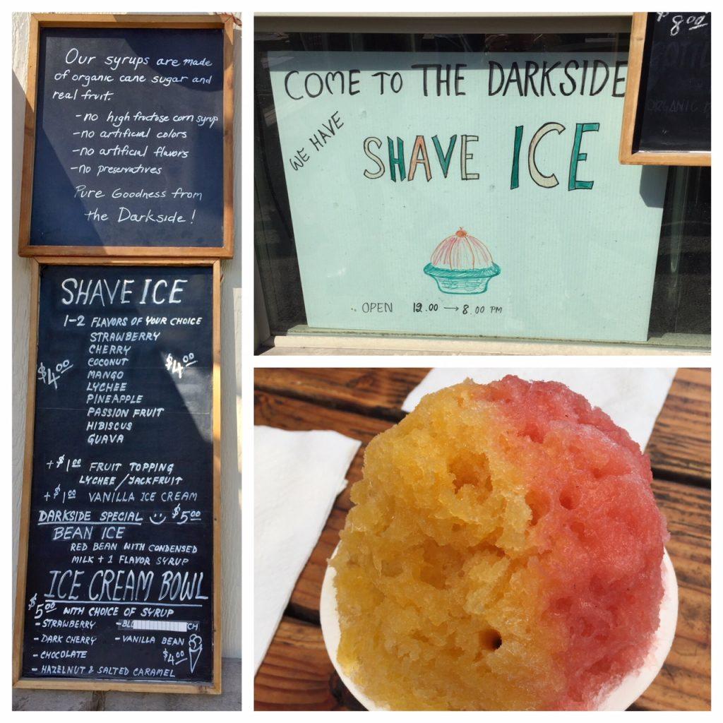 The Darkside; Shave Ice; Portland food pods