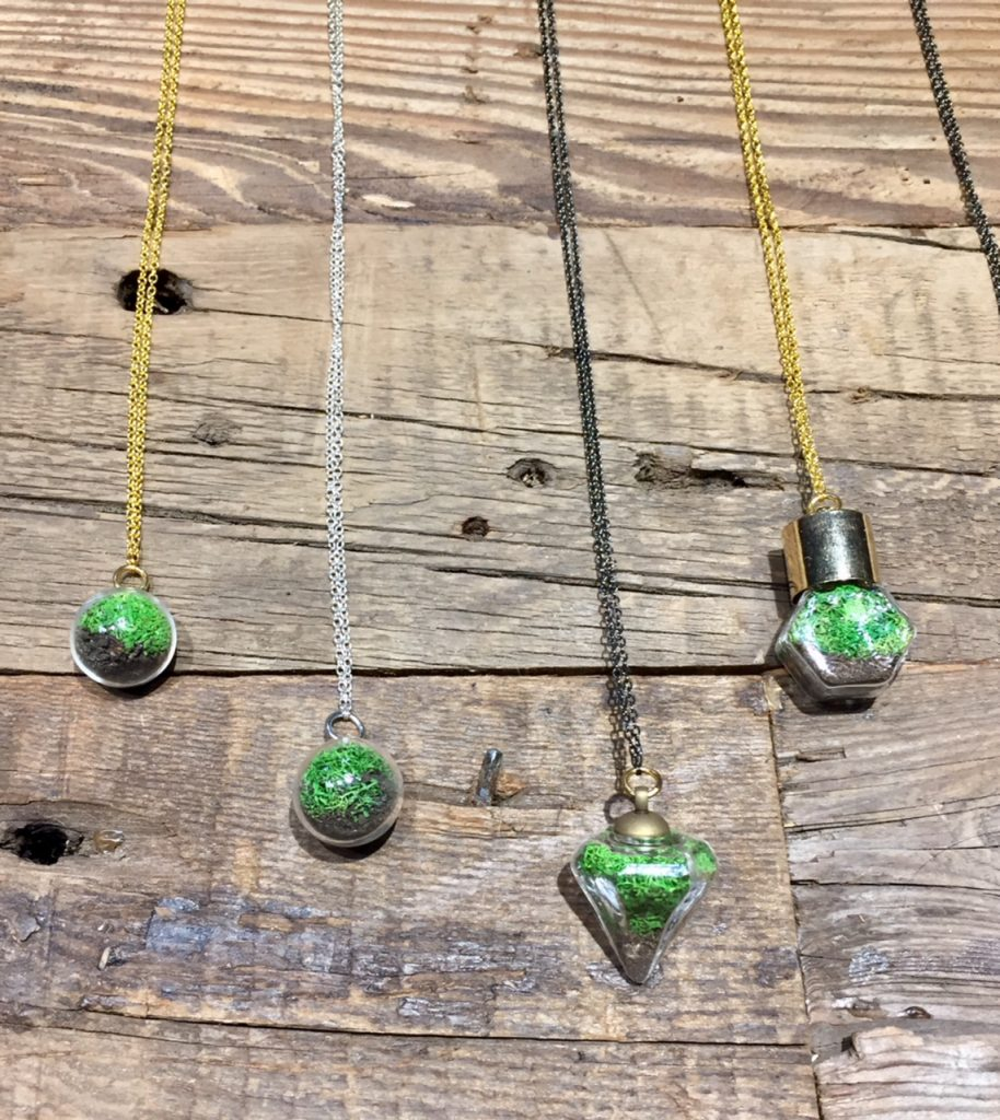 With Roots jewelry; terrariums; 2017 Gift Guide